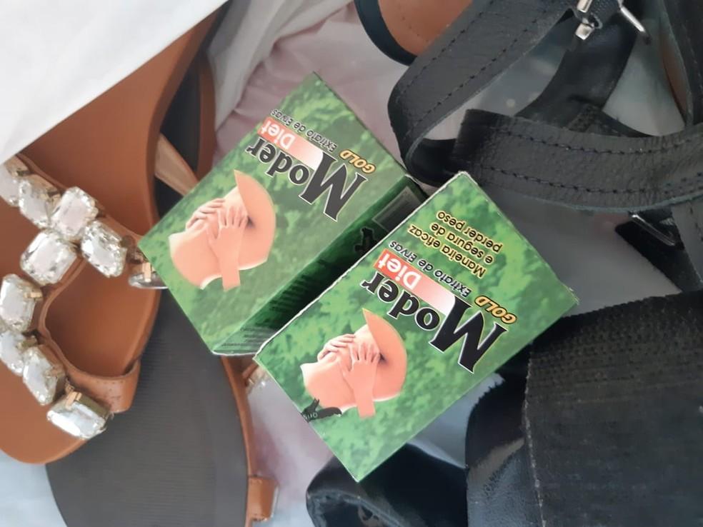 Produtos encontrados na casa de Paula, em Sorriso (MT) — Foto: Polícia Civil - MT