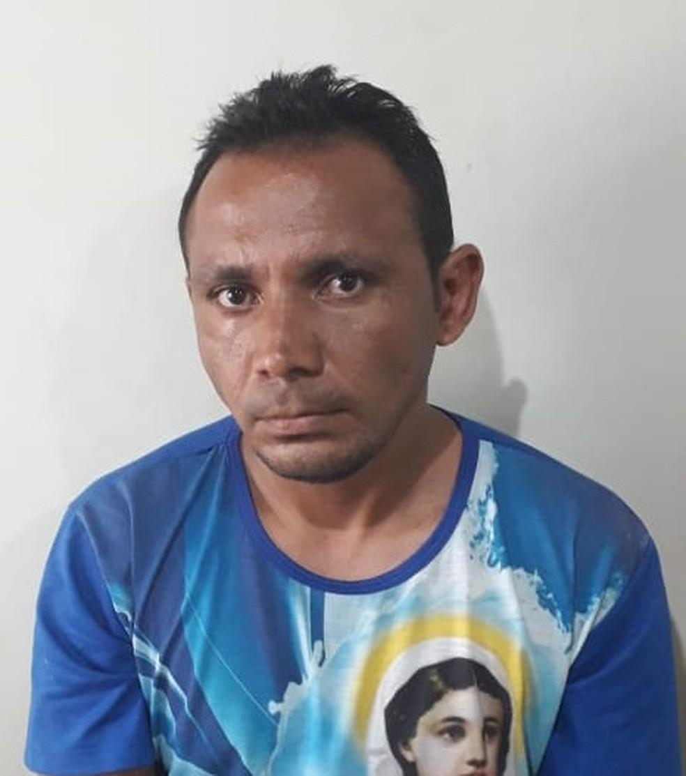 Eraldo Rodrigues da Silva foi preso por suspeita de matar três pessoas da mesma família em Vargem Grande, no Maranhão — Foto: Divulgação/Polícia Civil