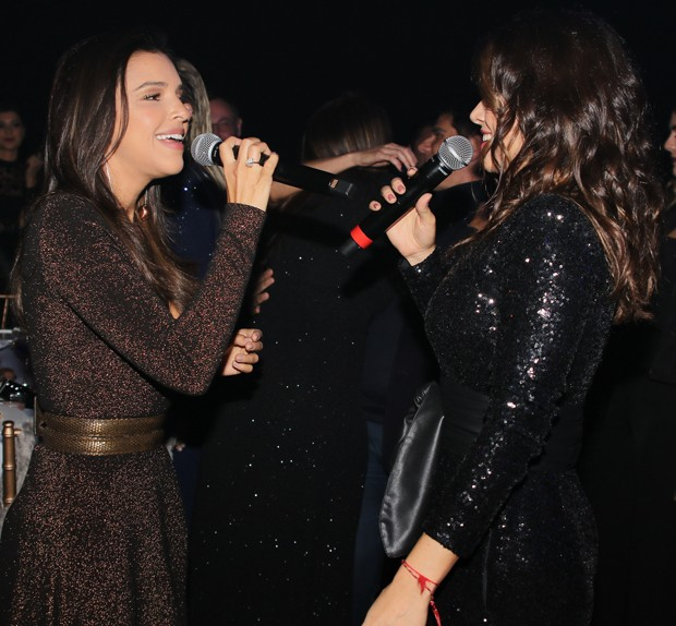 Mariana Rios e Paula Fernandes (Foto: Thiago Duran/AgNews)