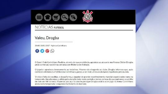"""Cereto critica postura do Timão após negativa de Drogba: """"Constrangedora"""""""