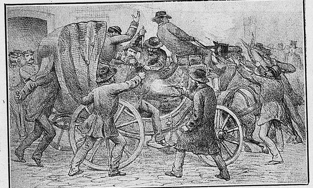 Moreira César: Ilustração da emboscada que matou Apulco de Castro, em 1883
