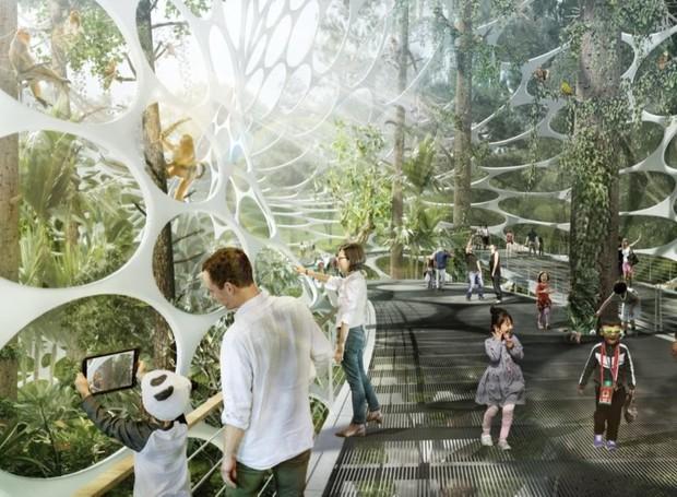 O Beihu Panda Park funcionará como um zoológico aberto na cidade (Foto: China Discovery/ Reprodução)
