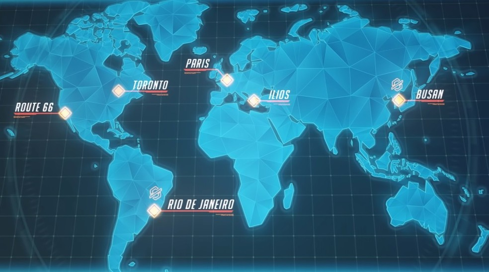 Novos mapas de Overwatch