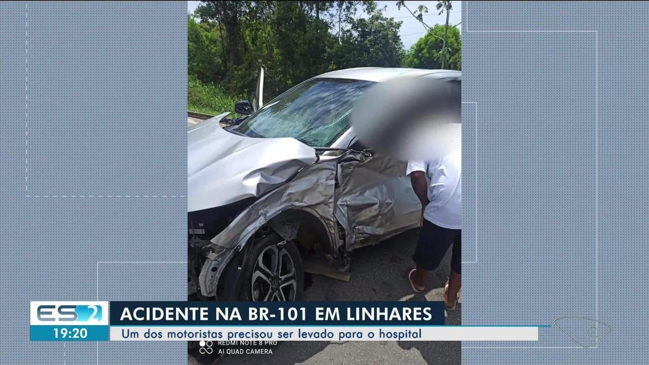 Acidente é registrado na BR-101 em Linhares, ES