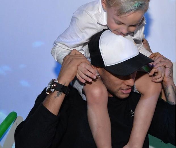 Neymar e Davi Lucca (Foto: Arquivo pessoal)