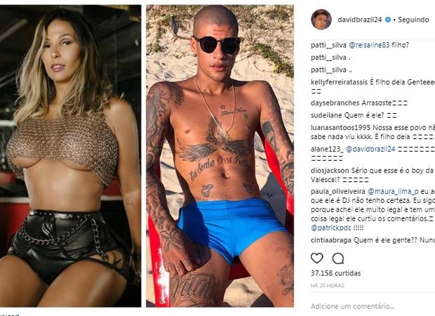 Valesca Popozuda sofreu ataques após ter namoro revelado por David Brazil (Foto: Reprodução/Instagram)
