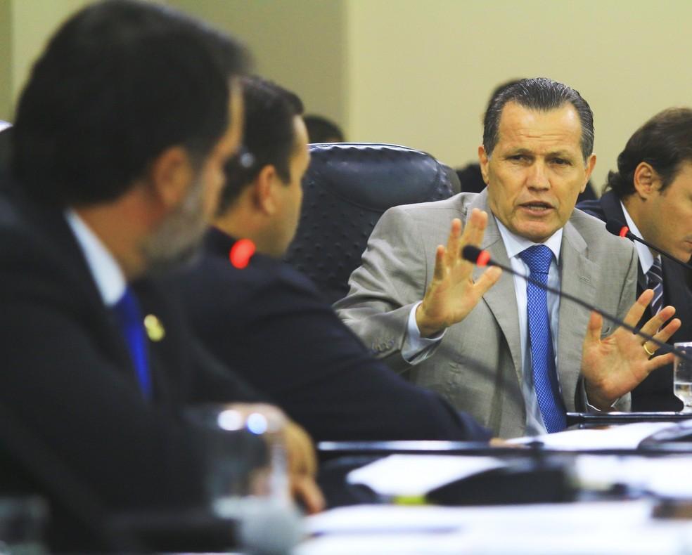 Silval Barbosa, ex-governador de Mato Grosso, foi intimado a depor na próxima segunda-feira (2) — Foto: Fablício Rodrigues/ALMT