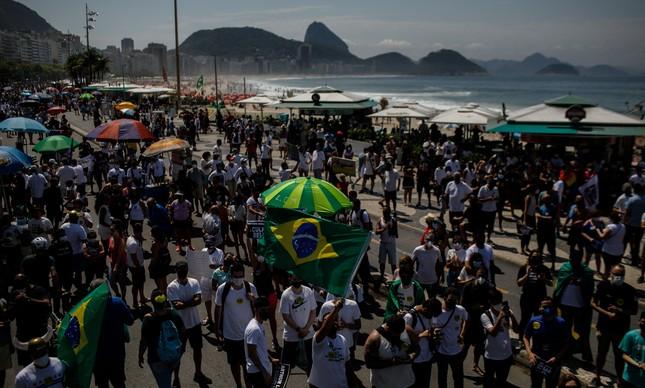 Manifestação contra o governo em Copacabana
