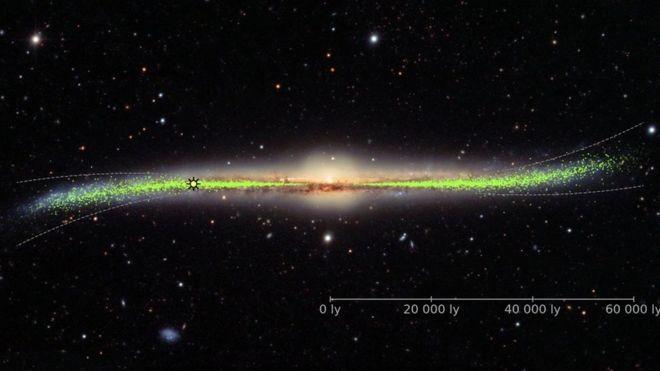 Uma nova visão da Via Láctea: torta nas bordas (Foto: OGLE/ UNIVERSIDADE DE VARSÓVIA, via BBC News Brasil)