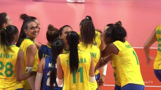 Com Bia no comando, Brasil vira para cima da Polônia e se garante nas semifinais da Liga das Nações