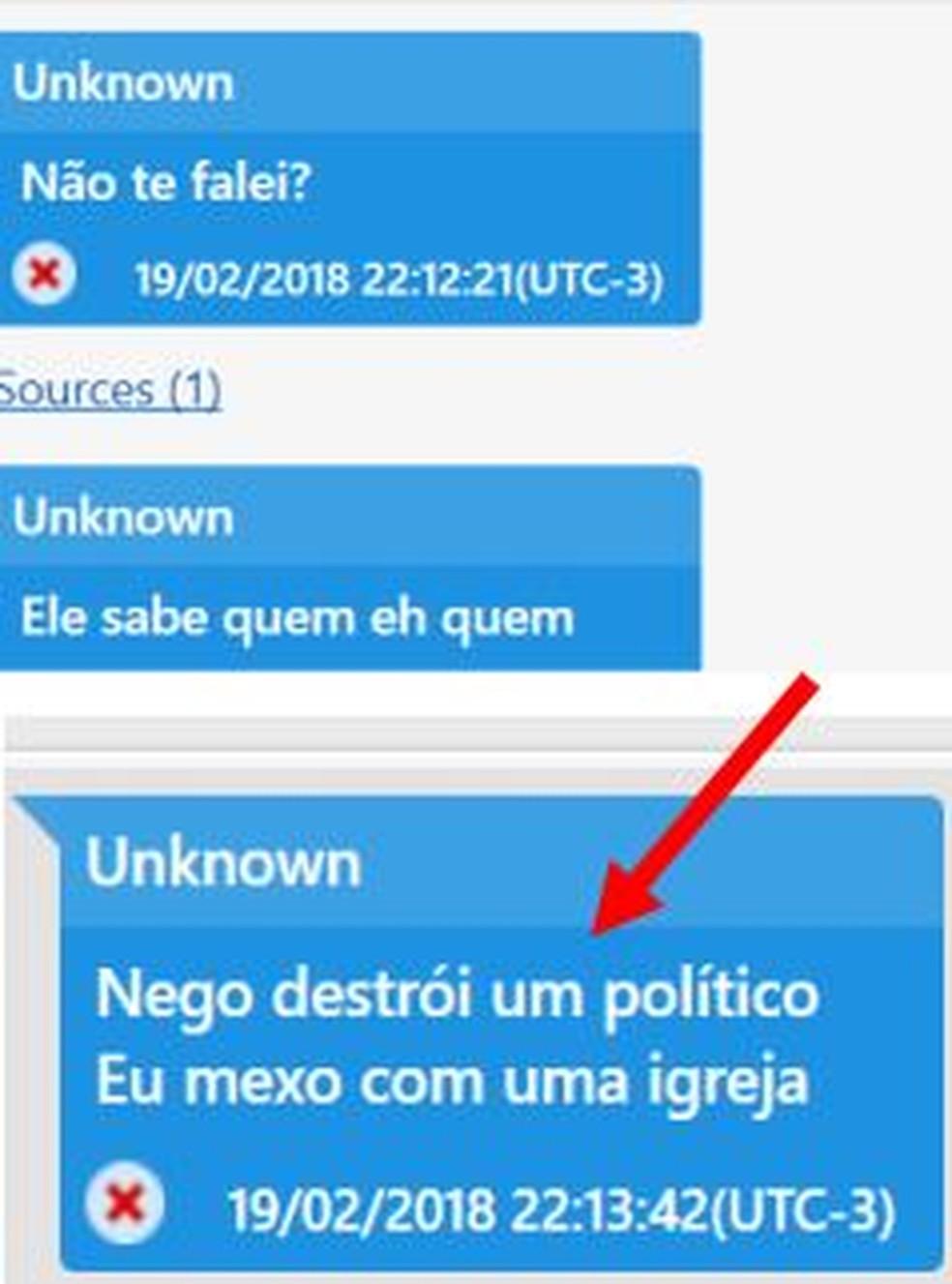 Mensagem atribuída a Rafael Alves fala de relação com a igreja — Foto: Reprodução