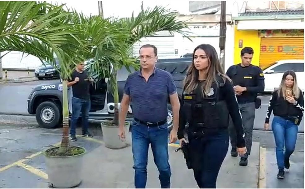 Prefeito de Camaragibe, Demóstenes Meira, é preso nesta quinta-feira (20) â?? Foto: Reprodução/WhatsApp