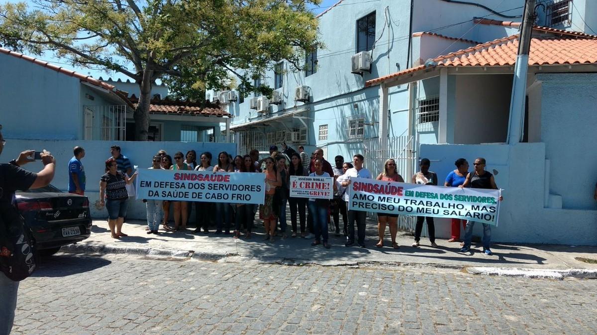 Servidores da Saúde de Cabo Frio, RJ, iniciam greve por tempo indeterminado