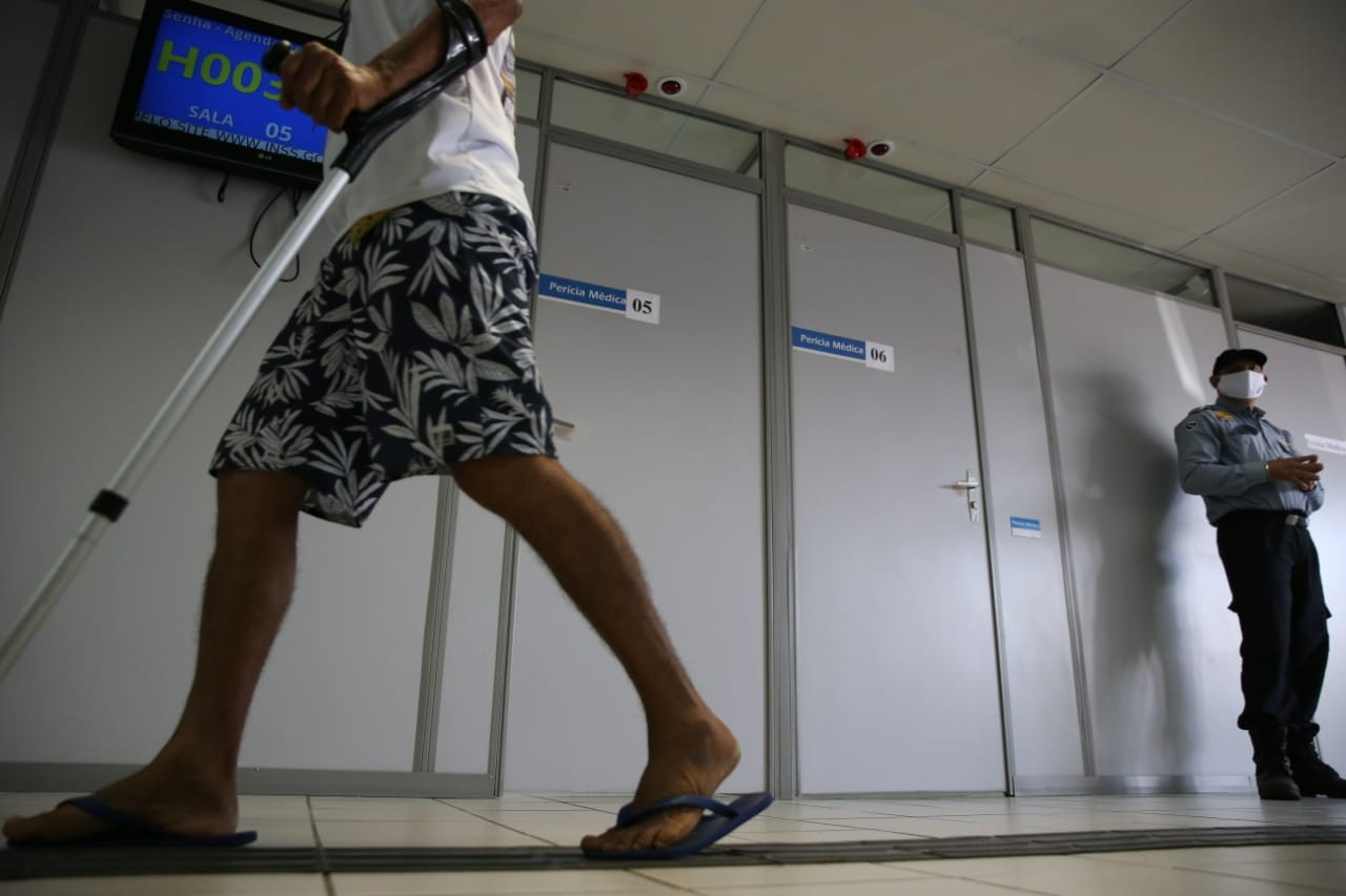 Apenas uma agências do INSS no Ceará teve serviço de perícia médica na manhã desta quarta