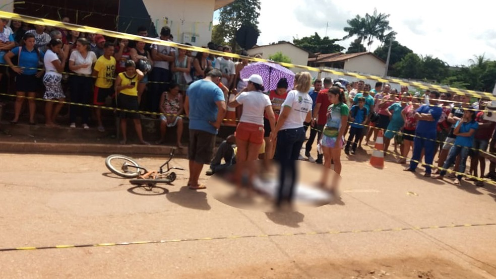 Local do acidente que vitimou menino de 11 anos em Mojuí dos Campos (Foto: Divulgação/PM)