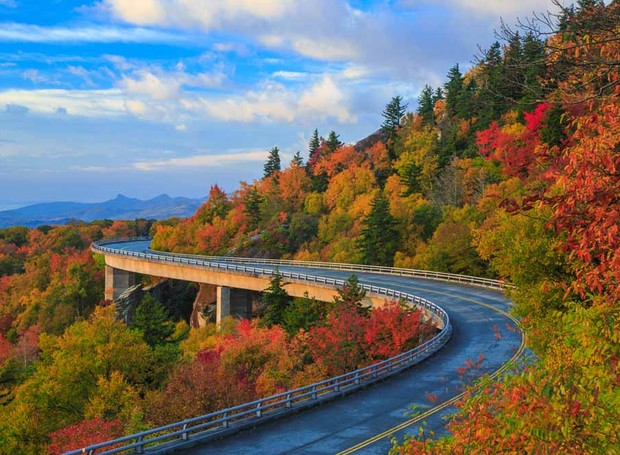 Blue Ridge Parkway, na Carolina do Norte (Foto: Thinkstock)