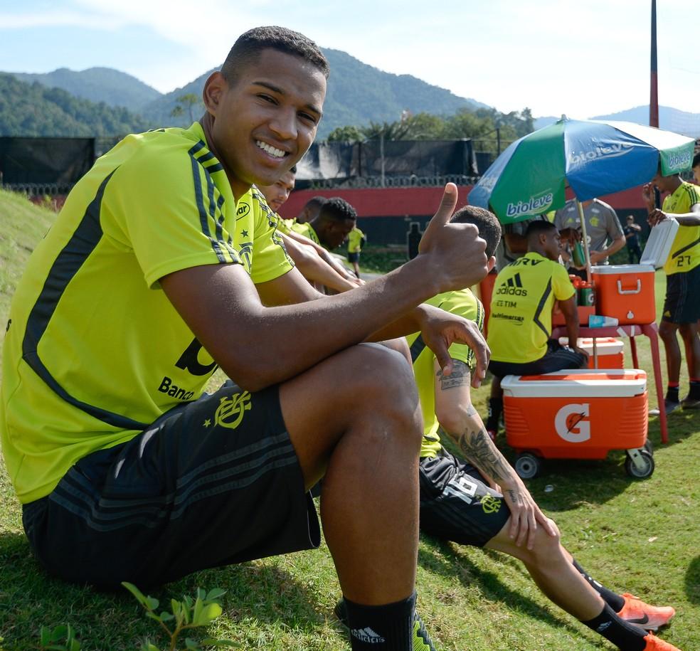 João Lucas vai integrar delegação do Flamengo em Guayaquil — Foto: Alexandre Vidal / Flamengo