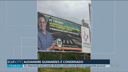Ex-deputado Alexandre Guimarães é condenado a devolver dinheiro público usado em propaganda