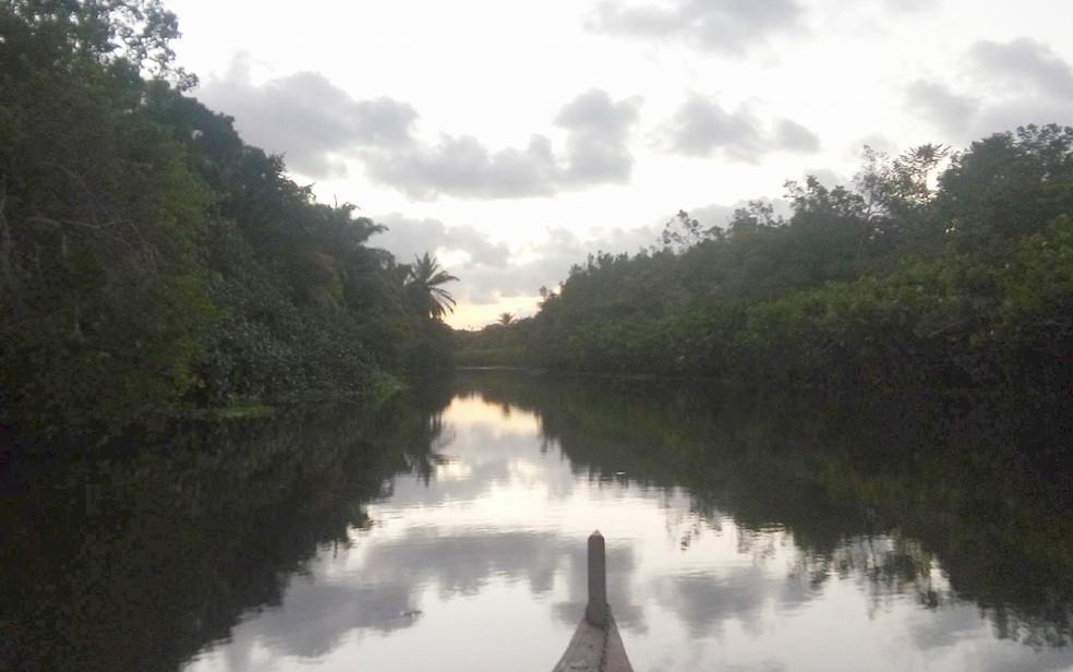 Rio Gramame integra a bacia que abastece população da  grande João Pessoa (Foto: Sérgio Santos/Arquivo Pessoal)