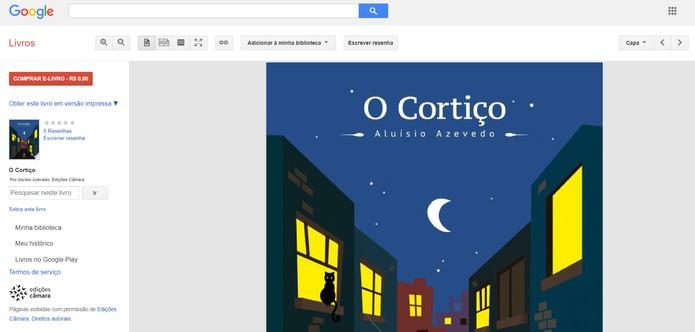 Google Books oferece versão de demonstração de livros digitais pagos (Foto: Reprodução/Google Books)