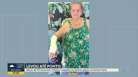 Idosa tem braço 'rasgado' ao tirar gesso em hospital; Crivella pede desculpa