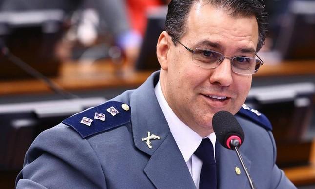 O deputado Capitão Augusto (PR-SP) durante sessão na Câmara