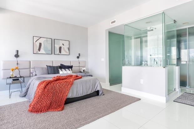 70 m² com décor prático e vista para o mar em Miami