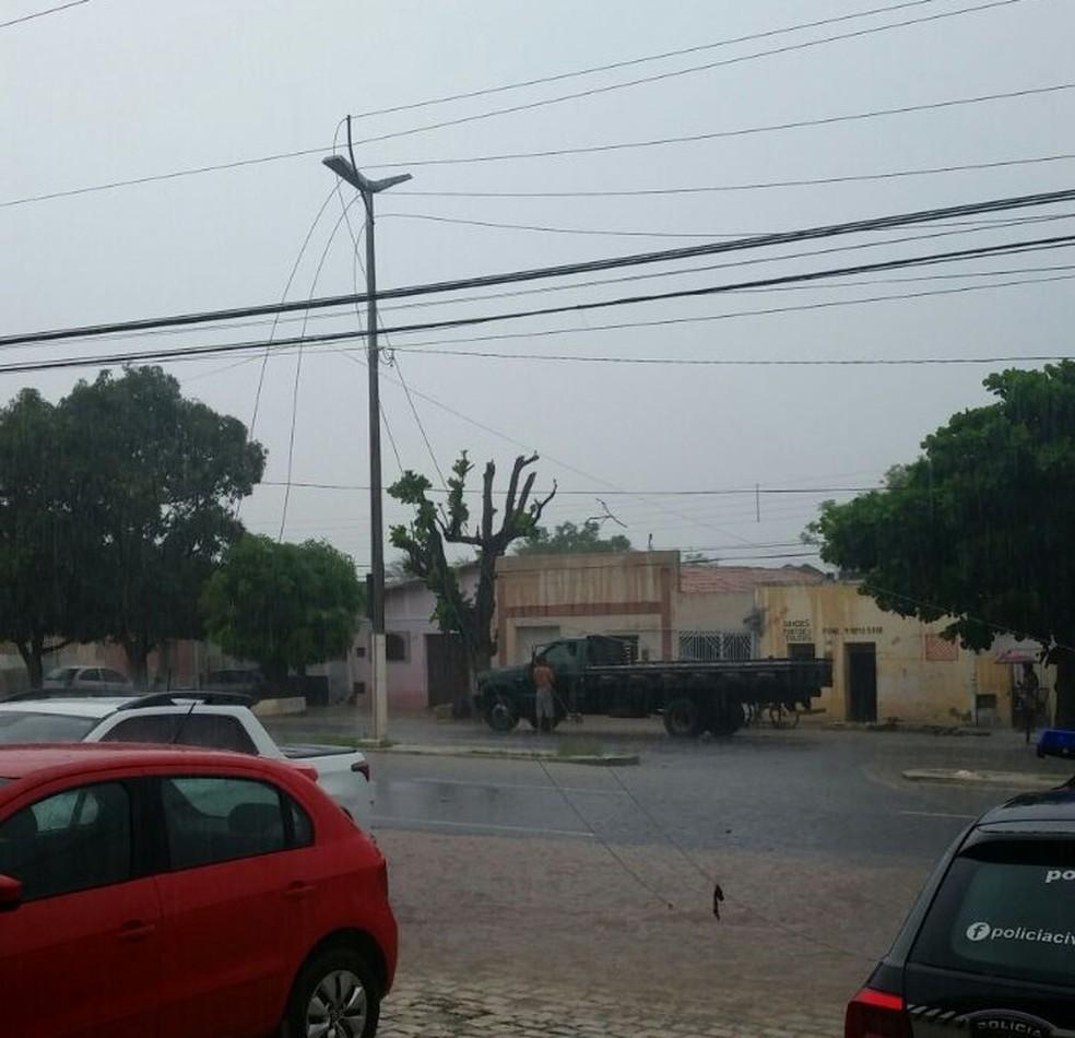 Raio atinge poste e danifica equipamentos de Delegacia de Assu, no Oeste do RN (Foto: Cedida/Polícia Civil)