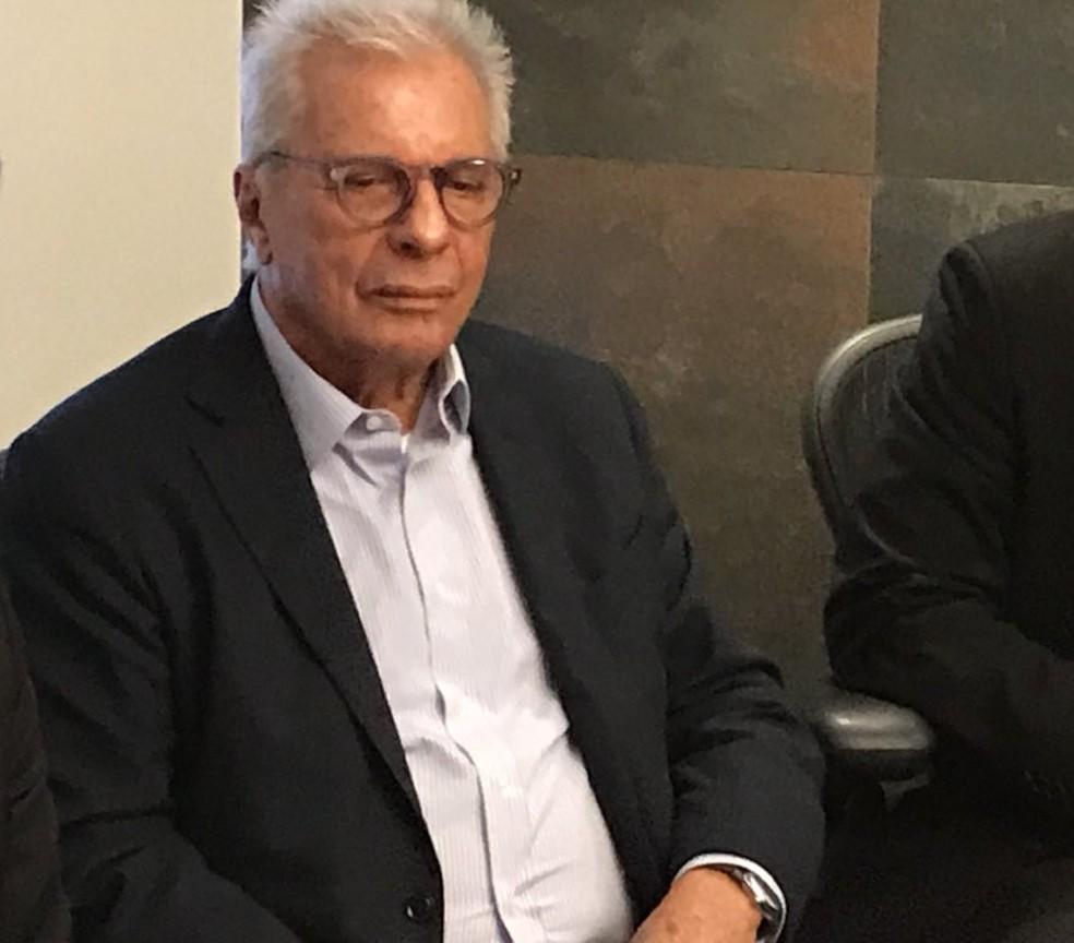 Márcio Braga, apoiador de Landim (Foto: Cahê Mota/GloboEsporte.com)