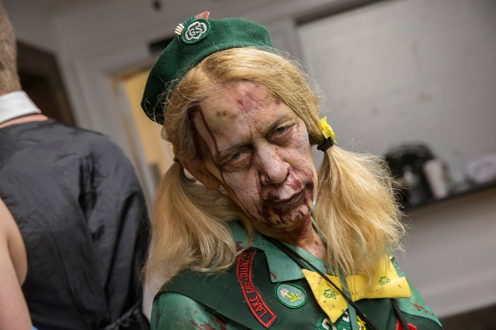 Nova Jersey tem parada zumbi (Foto: Peter Ackerman/The Asbury Park Press via AP)