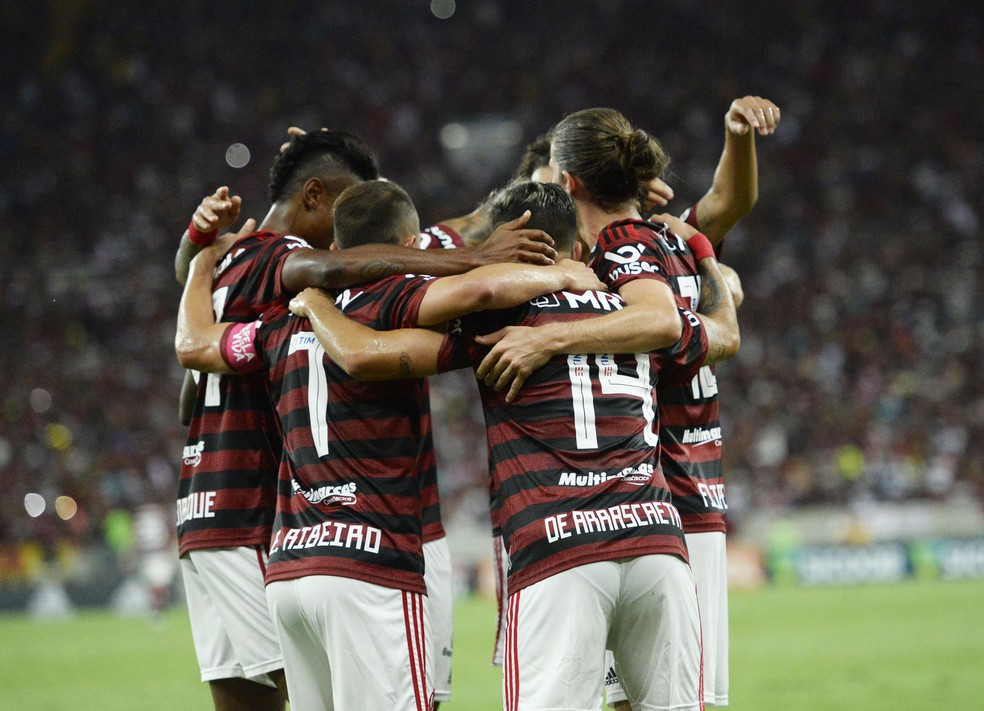 Flamengo não brilhou, mas venceu o CSA neste domingo — Foto: André Durão/GloboEsporte.com
