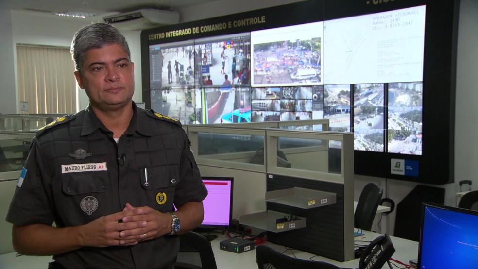 O Coronel Mauro Fliess acredita que, no médio prazo, o sistema tem tudo para ser aplicado de forma permanente — Foto: Reprodução TV Globo