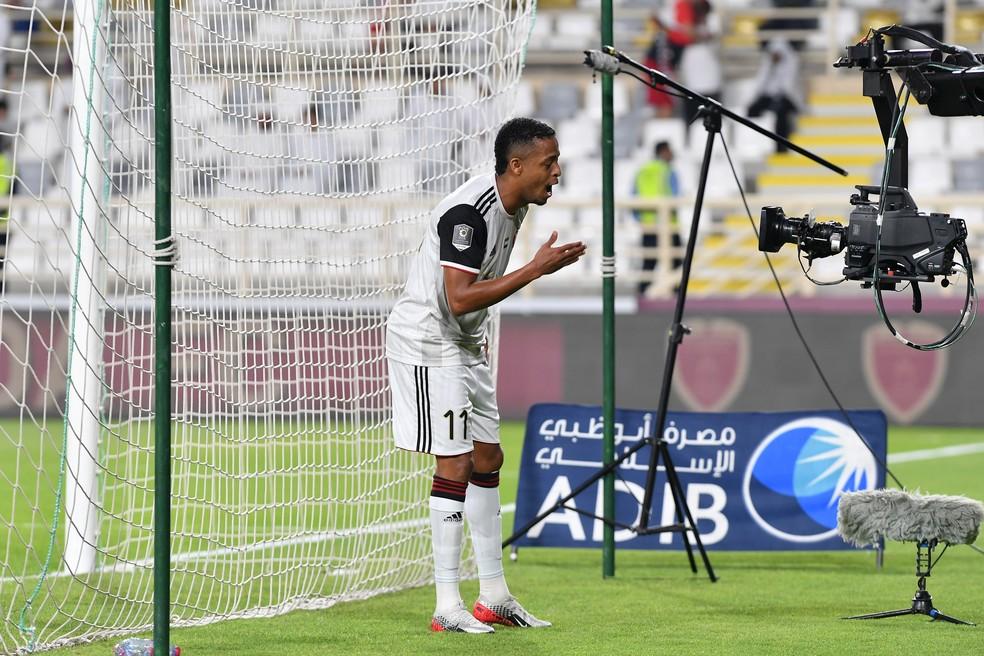 Keno comemora gol pelo Al Jazira — Foto: Divulgação/Al Jazira