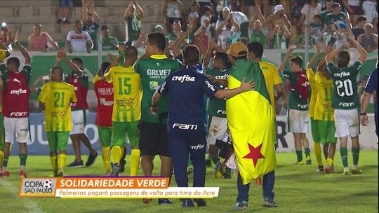 Palmeiras vai pagar passagens aéreas da volta do Galvez ao Acre após eliminação na Copinha