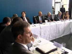 Reunião de secretários estaduais no Ministério da Justiça (Foto: RBS TV/ Reprodução)