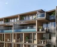 Residencial tem fachada inspirada na partitura de samba de uma nota só