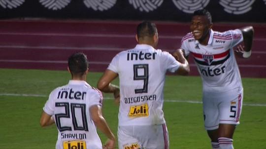 Assista ao lindo gol de Diego Souza na vitória do São Paulo sobre o Cruzeiro