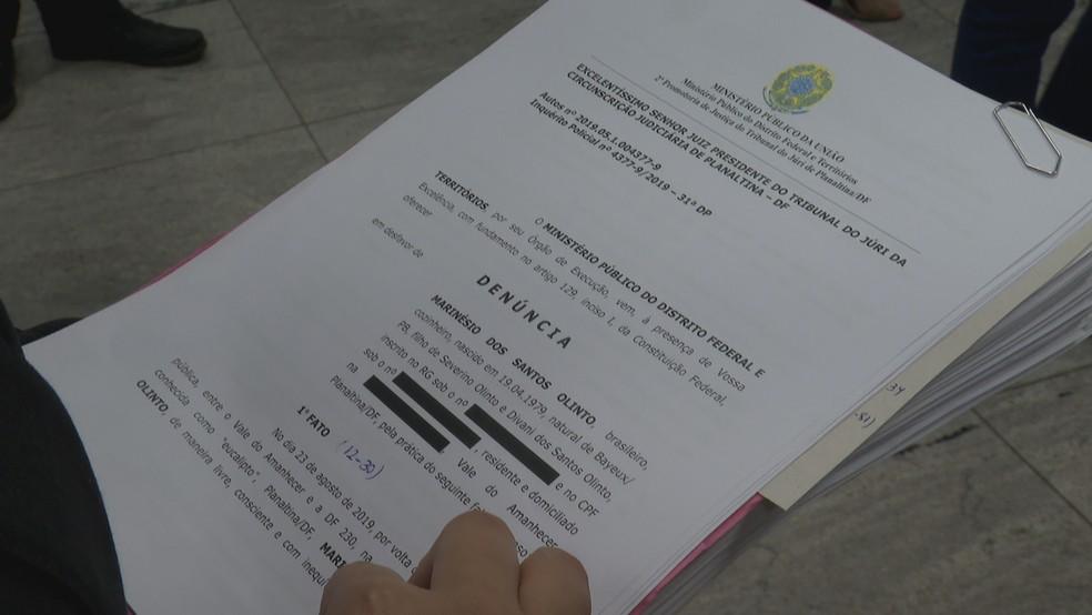 MP do DF denuncia Marinésio pela morte de funcionária do MEC — Foto: TV Globo/Reprodução