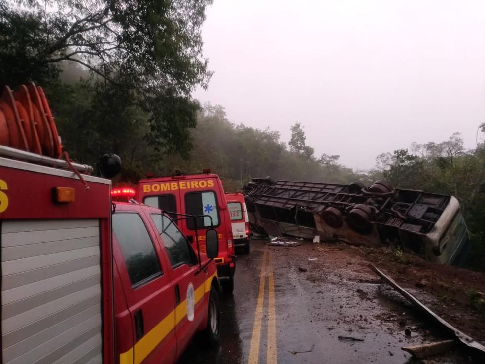 Corpo de Bombeiros fez resgates no Serro — Foto: Corpo de Bombeiros/Divulgação