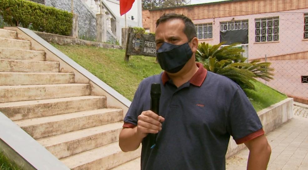 Henrique Gonçalves (MDB) foi escolhido como substituto de candidato que morreu na véspera da eleição em Passa Quatro (MG) — Foto: Reprodução/EPTV