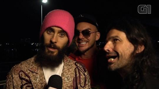 30 Seconds to Mars diz que sentiu falta do 'Brasil e do açaí'