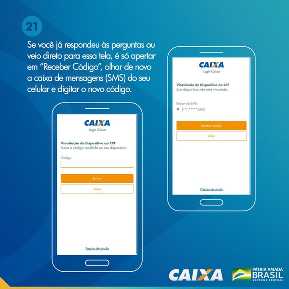 Tela 21 para pedir abertura da poupança social digital — Foto: Divulgação Caixa