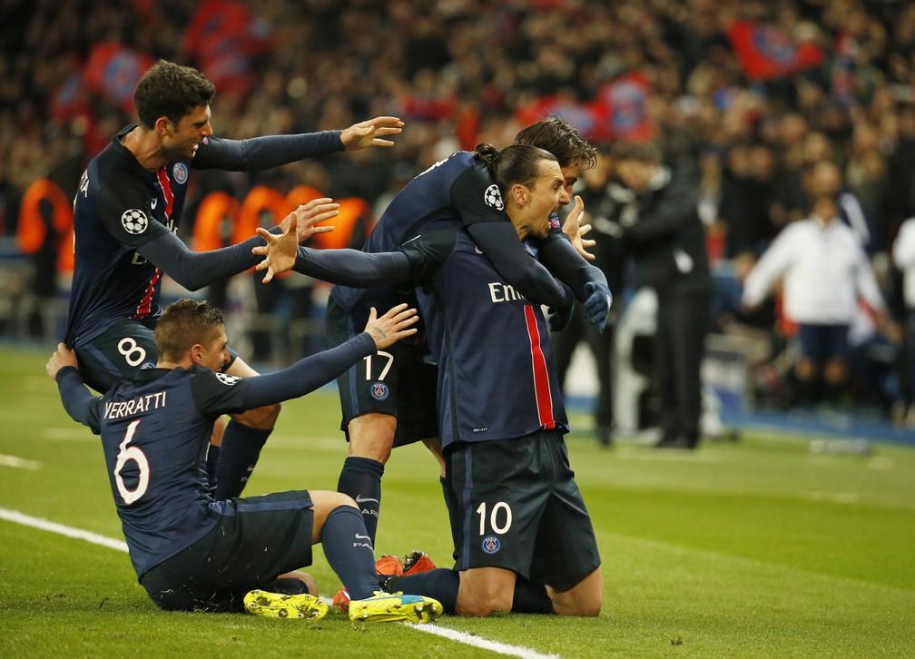 Ibrahimovic vestiu muitas camisas na Champions, mas foi no PSG onde mais brilhou, com 20 gols — Foto: Reuters