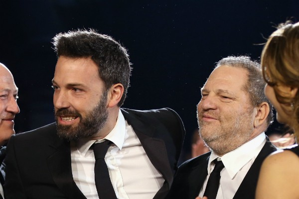 O ator Ben Affleck e o produtor Harvey Weinstein (Foto: Getty Images)