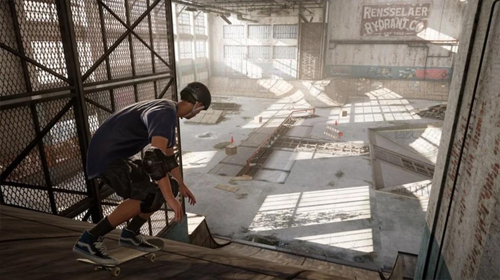 Tony Hawk's Pro Skater 1+2 traz as clássicas fases dos antigos games refeitas para a atual geração — Foto: Reprodução/Comic Book