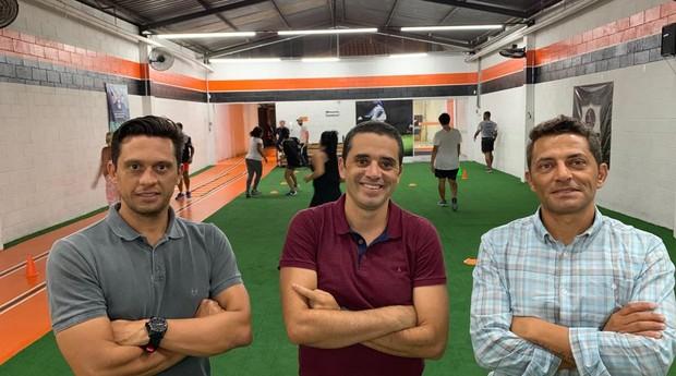 Eduardo Vela, Guilherme Batista e Gustavo Prado; fundadores do Crossfut. (Foto: Divulgação)