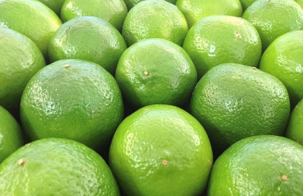 Caixa do limão taiti é vendida a R$ 33,46, em média — Foto: Reprodução
