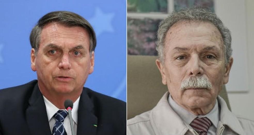 Bolsonaro e Ricardo Galvão — Foto: Marcos Corrêa/PR; LUCAS LACAZ RUIZ/ESTADÃO CONTEÚDO