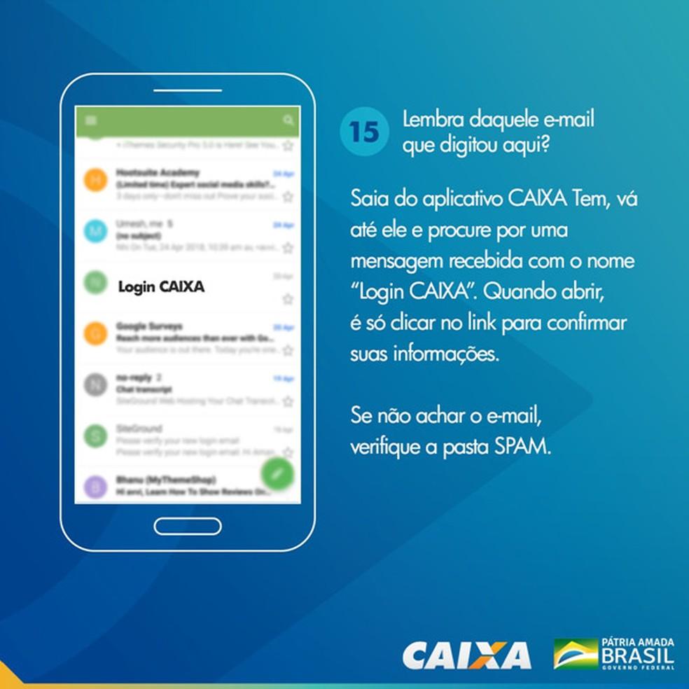 Tela 15 para pedir abertura da poupança social digital — Foto: Divulgação Caixa