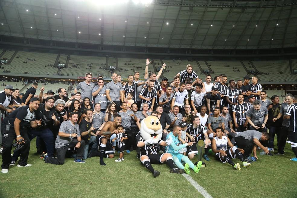 Terceiro colocado na Série B, Ceará volta a disputar o Brasileirão em 2018. Com isso, serão quatro nordestinos na disputa (Foto: Thiago Gadelha / Agência Diário )